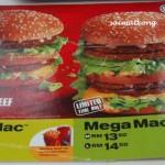 McDonalds Mega Mac vs Carl's JR Burger