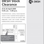 DKSH Warehouse Sales 25-26 April 09