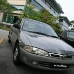 My car reach 100k wooh – lebih kilometer dengan Proton Wira
