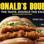 McDonald's Doubles : Double The Taste. Double The Enjoyment