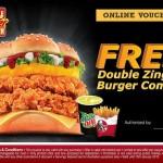 FREE KFC Double Zinger Burger Combo Vouchers Ended?