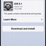 Apple releases iOS 6.1 update! Update now!