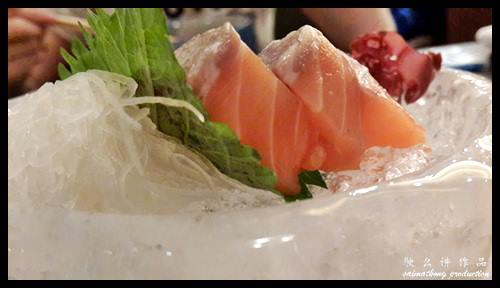 Sashimi Zen (Assorted Sliced Raw Fish) set RM48.00 : 一心 Ishin Japanese Dining @ Old Klang Road