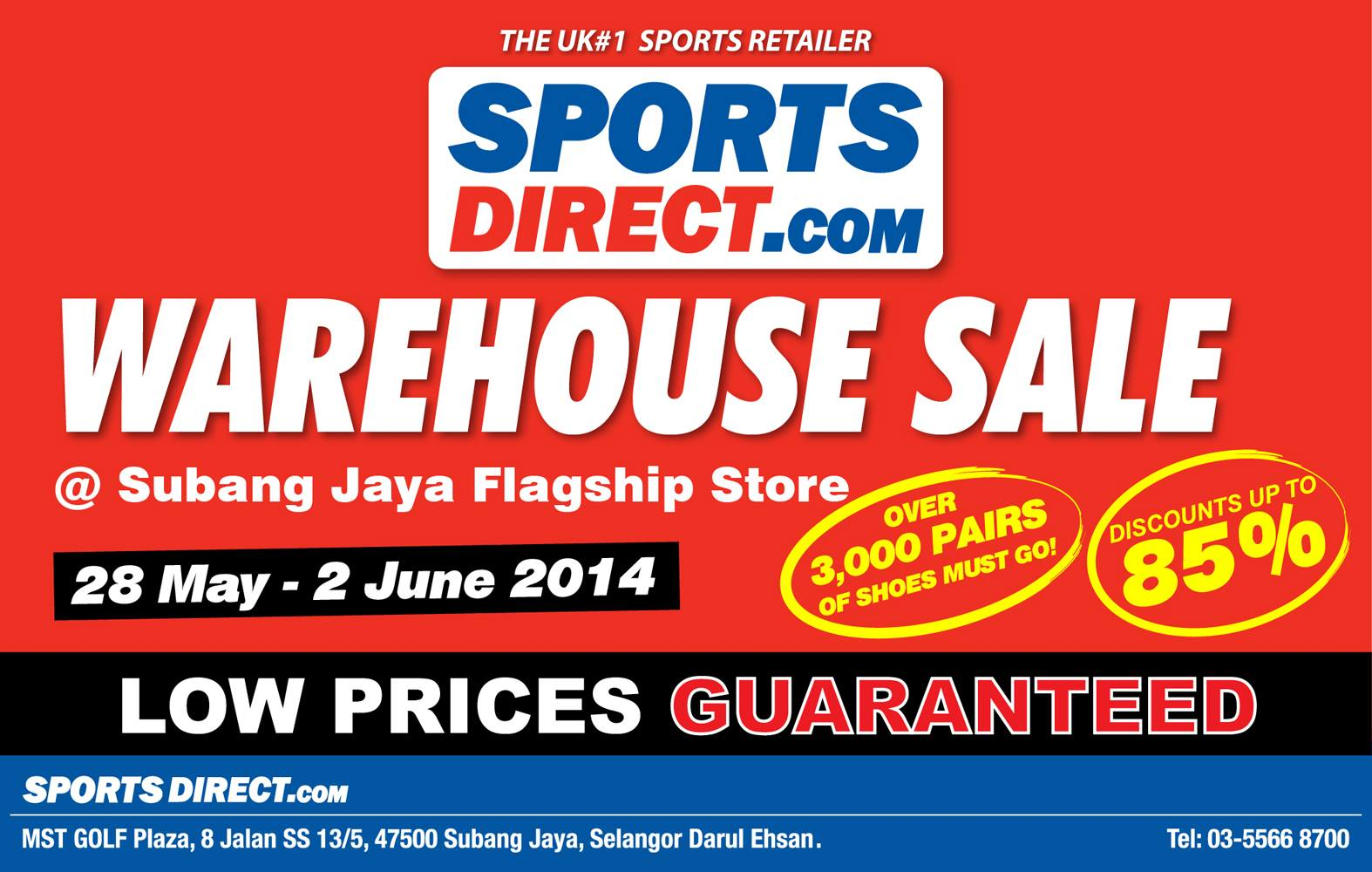 SportsDirect Malaysia Sportswear Warehouse Sale Clearance for Nike, Adidas, Puma & more (28 May - 2 June 2014)
