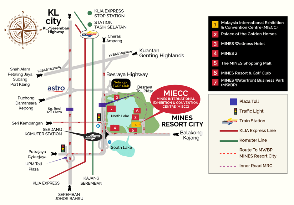 MAP to Big Bad Wolf Book Sale! @ MIECC, The Mines