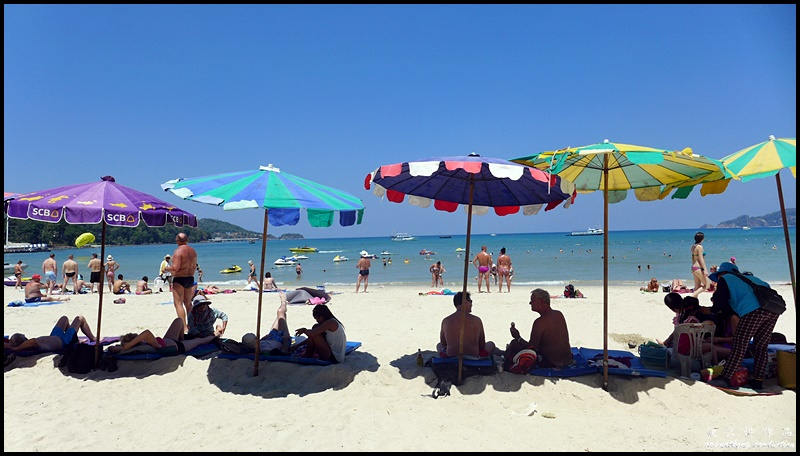 You can actually rent chairs and portable umbrellas from the vendors at Patong Beach or else risk go home burned from the hot sun.