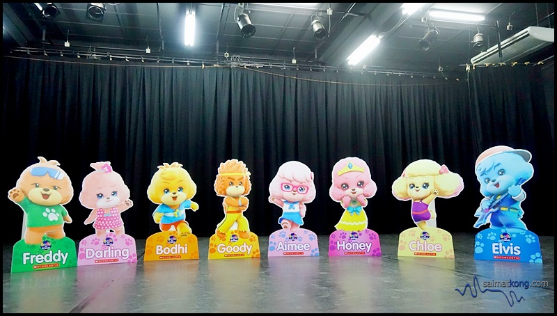 Meet all characters from Bodhi and Friends - Bodhi, Freddy, Darling, Goody, Aimee, Honey, Chloe and Elvis!