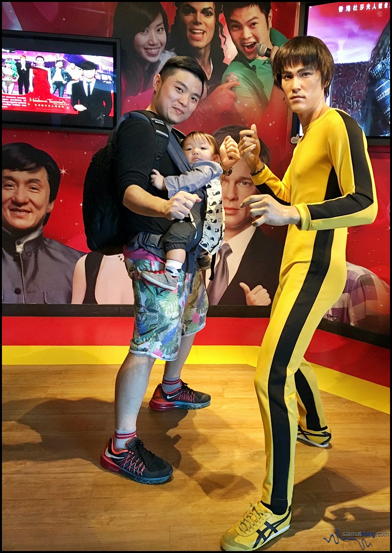 Saw Bruce Lee wax statue and gotta snap a quick photo first. Haha. You can also purchase combo tickets for the Tram, the Sky Terrace and Madame Tussaud's Wax Museum.