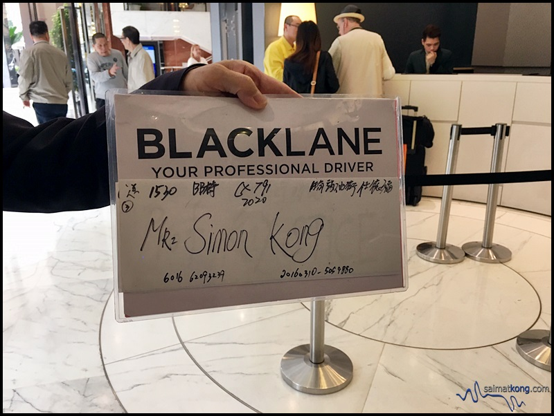 We booked a ride with Blacklane to Hong Kong International Airport. Our driver arrived in time and helped us with our luggages too.