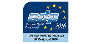 HP DesignJet T830 Printer awarded Best Wide-Format MFP for 2016.