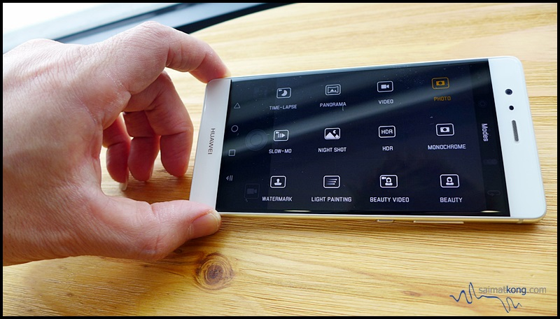 The P9 has got a variety of camera modes to choose from.