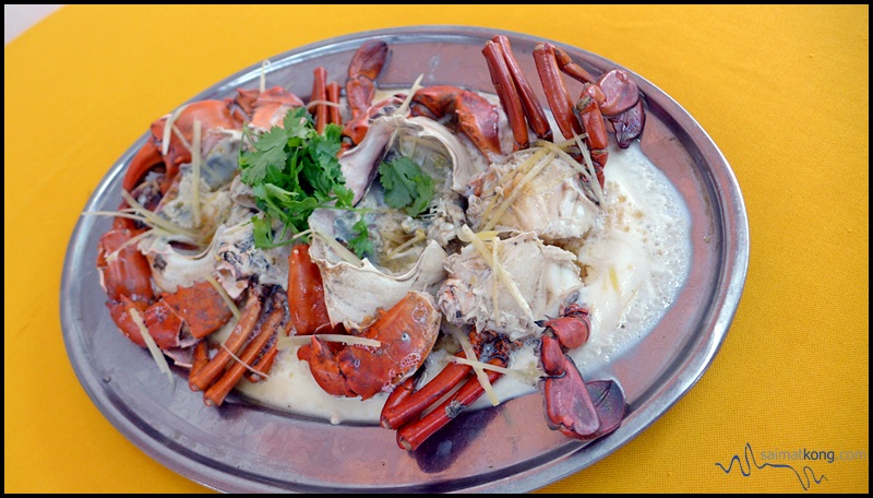 Crab B Seafood Restaurant 螃蟹哥哥海鮮飯店 @ Puchong Jaya  : Steamed Egg Crabs (花雕蛋蒸蟹)