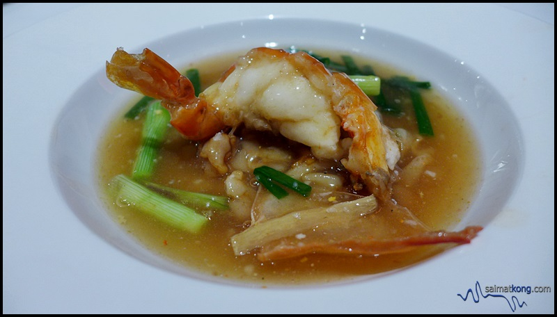 MIGF 2016 Menu @ Dynasty Restaurant, Renaissance Hotel KL - Flat Noodles with King Prawn, ginger and scallion.