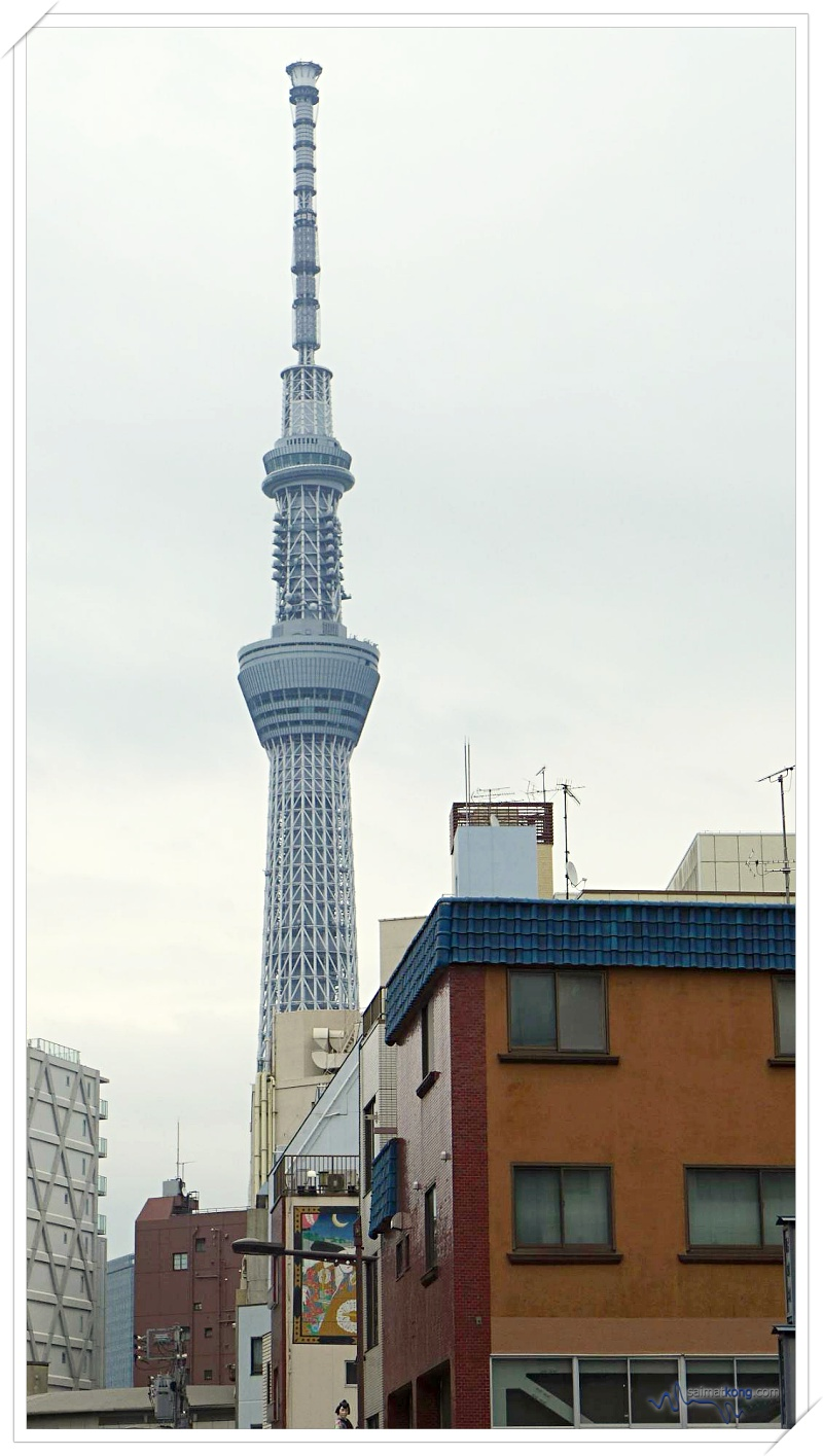 Japan - Asakusa (浅草) What To Do, Eat & See - Nice view of Tokyo Skytree from Asakusa.