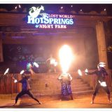 Night comes alive at Lost World Hot Springs Night Park