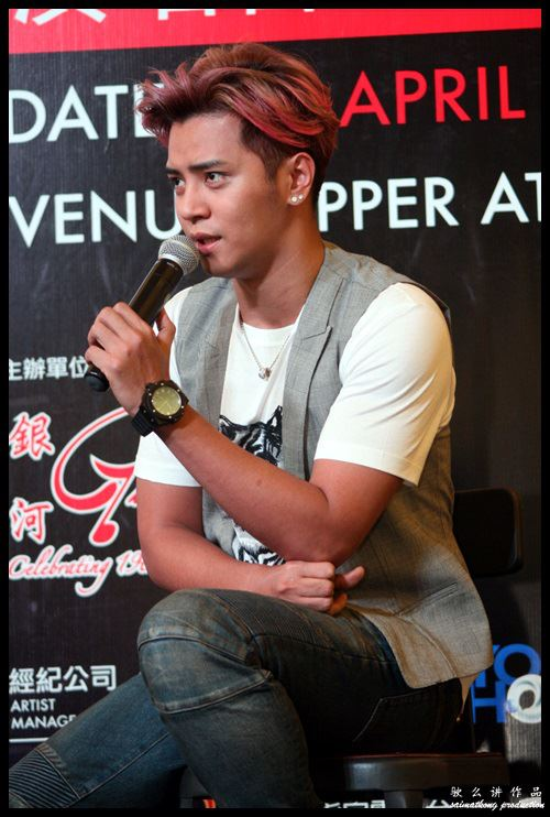 Show Luo speaks during a promotional event for his upcoming concert