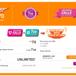U Mobile new Hero Postpaid P70 plan – Unlimited Calls to all networks + 7GB Data
