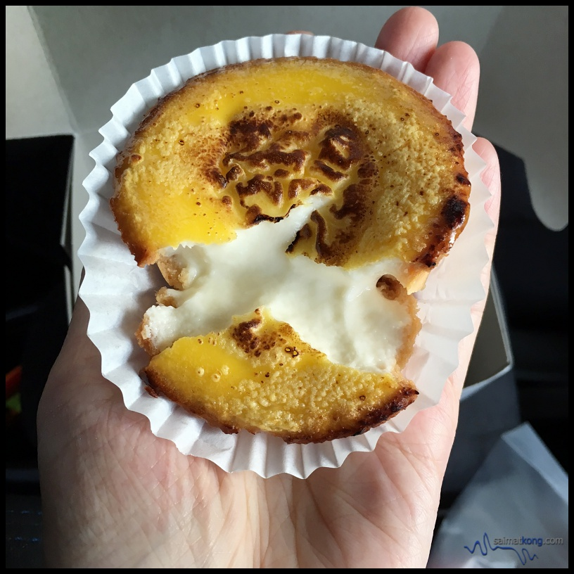 The Cheese Lava Tart filling from Bake Plan is quite milky and fluid with a thin pastry.